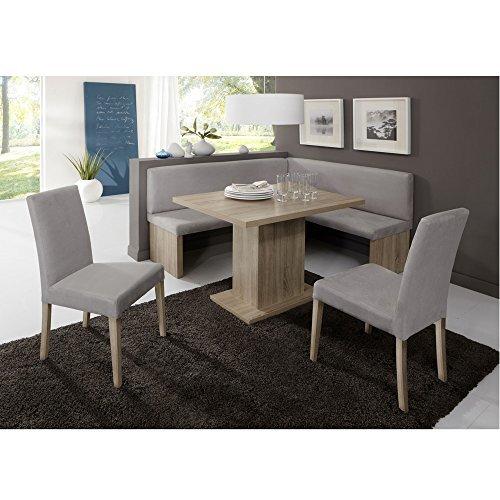 eckbank eckbankgruppe essgruppe charlson essecke bank tisch 2 st hle eiche. Black Bedroom Furniture Sets. Home Design Ideas