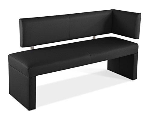 SAM® Esszimmer Ottomane Sofia in schwarz, 130 cm, komplett bezogen, angenehme Polsterung