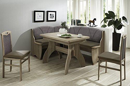 51si+ZVXysL 500x330 - Eckbank Eckbankgruppe Essgruppe COMO Essecke Tisch 2 Stühle Sonoma Eiche