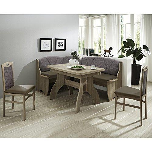 Eckbank Eckbankgruppe Essgruppe COMO Essecke Tisch 2 Stühle Sonoma Eiche