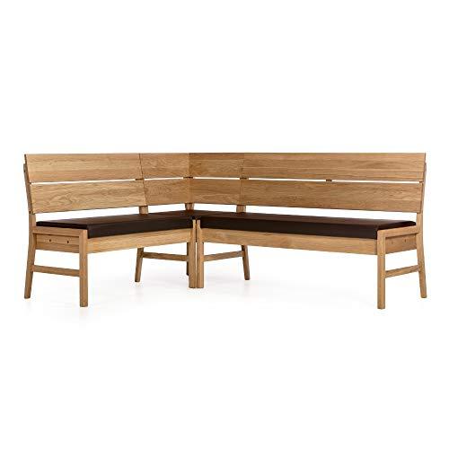 Alkove - Hayes - Moderne Eckbank mit gepolsterter Sitzfläche, Wildeiche