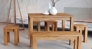 Krok Wood Esstisch Bonn aus Massivholz in Buche 110 x 310x165 - Krok Wood Esstisch Bonn aus Massivholz in Buche (110 x 75 x 75)