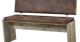 Bonanza Vintage Sitzbank in Driftwood Optik bequeme Retro Sitzbank 310x165 - Bonanza Vintage Sitzbank in Driftwood Optik - bequeme Retro Sitzbank mit Lehne für Ihr Wohn- & Esszimmer - 126 x 86 x 55 cm (B/H/T)
