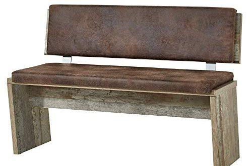 Bonanza Vintage Sitzbank in Driftwood Optik bequeme Retro Sitzbank 500x330 - Bonanza Vintage Sitzbank in Driftwood Optik - bequeme Retro Sitzbank mit Lehne für Ihr Wohn- & Esszimmer - 126 x 86 x 55 cm (B/H/T)